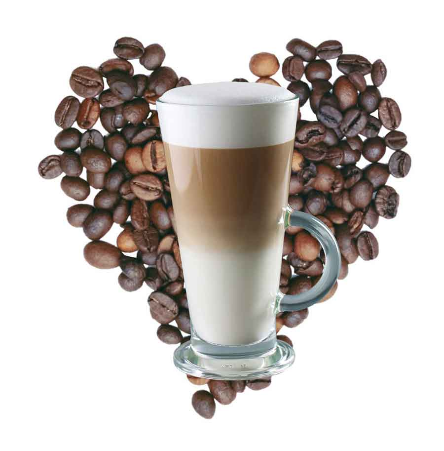 coffeebean-heart-with-latte
